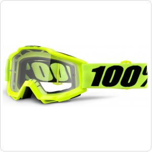 Мото очки 100% ACCURI OTG Goggle Fluo Yellow - Clear Lens