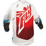 Мото джерси FLY LITE HYDROGEN JERSEY [RED/WHITE]