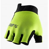 Вело перчатки Ride 100% EXCEEDA Gel Short Finger Glove [Fluo Yellow]