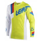 Мото джерси LEATT Jersey GPX 5.5 UltraWeld [Lime/Wht]